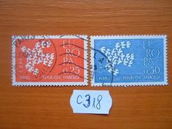 FRANCIA 0,25 + 0,50 FR 2 DB 1961 EUROPA C318