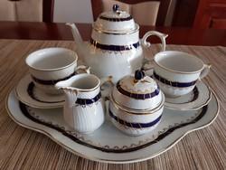 Gyönyörű hollóházi teáskészlet tálcával