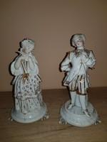 Figyelem,kiárúsítás! Gyönyörű barokk meisseni jellegű porcelán szobor páros!