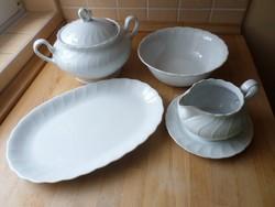 Winterling Bavaria fehér porcelán tálaló szett