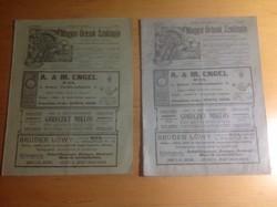 Magyar órások 1907  110 éves  szaklapja