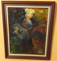 VOLKOV MIHAIL - IMA 44 X 36 cm olaj, farost