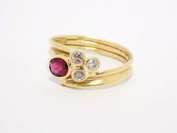 Arany köves gyűrű (ZAL- Au 67632)