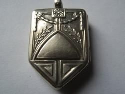 Antik ezüst fényképtartós medál