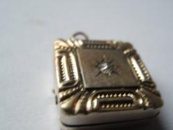 Antik ezüst fényképtartós medál (2)