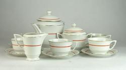 0L820 Régi Zsolnay porcelán teáskészlet
