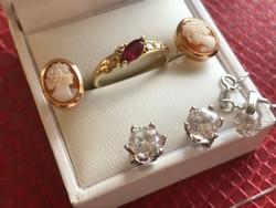 7db-os arany kollekció 14-18karátos arany csomag,brill,rubin,kámea