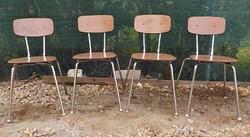Rakásolható póklábú szék 4 darab mid-century