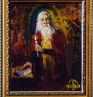 VOLKOV MIHAIL - BIBLIA 2 25 X 30 cm olaj, farost