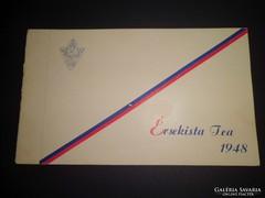 Érsekista Tea meghívó 1948