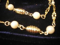 Gold Filled Arany Bev. ,nyaklánc Gyöngy Díszítéssel