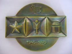 Zsolnay Eozin 1945-1975 szocialista Plakett