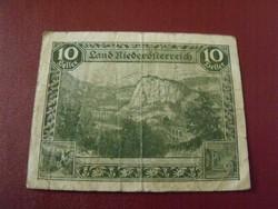 Ausztria 10 heller szükségpénz 1920