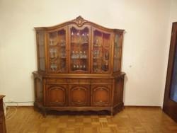 Warrings nagy tálaló vitrines szekrény 210x195x45cm