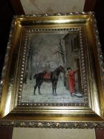 Louis Émile BENASSIT (Híres Francia festő 1833-1902) Muzeális érték