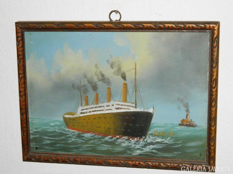 Haller F. > jelzett antik olaj / vászon festmény